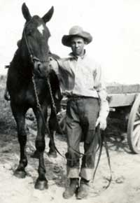 Sid with horse and wagon. Larger image available in family only gallery.